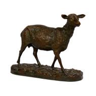 """A Shorn Ewe"", bronze sculpture   Pierre-Albert Laplanche"