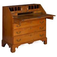 American Chippendale Figured Maple Slant-Front Desk | Massachusetts, circa 1780