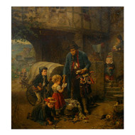 """The Toy Seller"" (1874), oil painting | Fritz Beinke (German, 1842-1907)"
