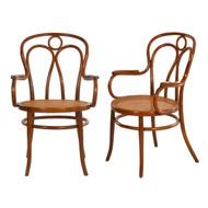 Pair of Austrian Bentwood Arm Chairs | Josef Kohn, no. 36, circa 1900