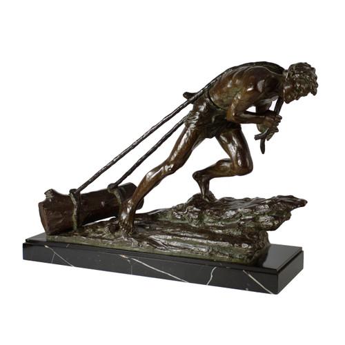 """L'Effort"", patinated bronze sculpture | Edouard Drouot"