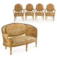 French Louis XVI Style Giltwood 5-Piece Salon Suite | Paris, circa 1890