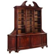 George III Mahogany Breakfront Bookcase Cabinet | England, circa 1800