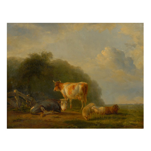 A Pastoral Landscape of Cows and Sheep | Balthasar Paul Ommeganck