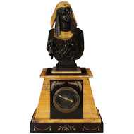"""Bust of Isis"" Egyptian Revival Mantel Clock 