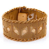 Mid-Century 18K Yellow Gold Woven Bracelet