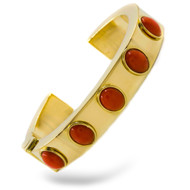 Substantial 18K Yellow Gold Cuff Bracelet | 65 grams