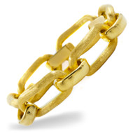 "Italian 18K Yellow Gold Florentine Links | 7 3/4"" long 