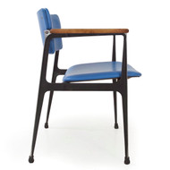 Dan Johnson for Shelby Williams Walnut & Aluminum Chair