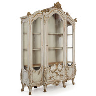 French Louis XV Painted Display Cabinet | Early 19th Century