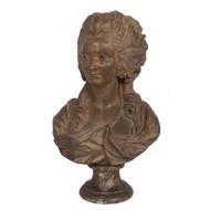 """Jeanne Bécu, Comtesse du Barry""   Painted Terracotta Bust"