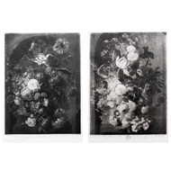 Pair of Still-Life Mezzotints by Johann Pichler after Jan van Huysum