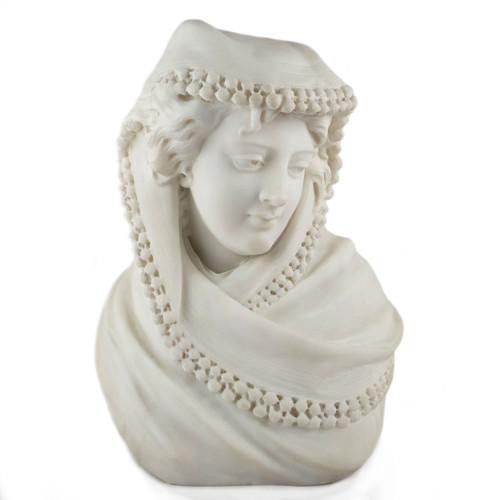 "Italian School Marble Sculpture ""Bust of a Woman"" | 19th Century"