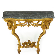 A Fine Carved Giltwood Pier Table | Continental, 19th century