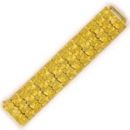 """Estate 14k Gold """"Nugget"""" Bracelet   7 1/4"""" long, 170.1 grams"""
