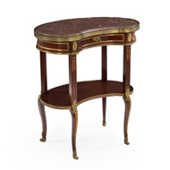 French Mahogany Kidney-Form Accent Table