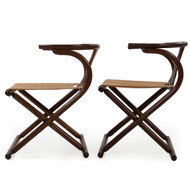 Pair of Thonet-Style Bentwood Folding Chairs circa 1960s