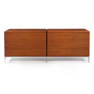 Knoll Teak and Chrome Double-Chest Credenza circa 1970