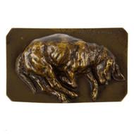 """Sleeping Basset Hound"", bronze sculpture | Jean-Baptiste-Louis Guy"