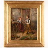 Jacob Johan Silven (Sweden, 1851-1924), Fine Antique Oil Painting