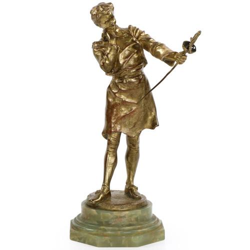 "Henryk Kossowski Jr. (French, 1855-1921) Bronze Sculpture, ""L'Armurier"""