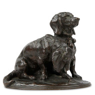 Emmanuel Fremiet (French, 1824-1910) Antique Bronze Dog Sculpture