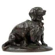 Emmanuel Fremiet (French, 1824-1910) Antique Bronze Dog Sculpture