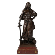 "Eugene Aizelin (Paris, 1821-1902) ""Judith"" Original Antique Bronze Sculpture"