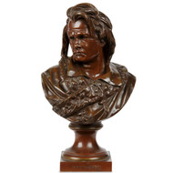 "Albert Carrier-Belleuse (French, 1824-1887) Antique Bronze Sculpture ""Beethoven"""