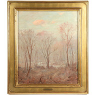 Fine Hal Robinson (American, 1875-1933) Tonalism Antique Painting, Forestscape