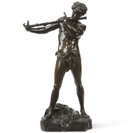 "Felix Charpentier (French, 1858-1924) Antique Bronze Sculpture ""L'Improvisateur"""