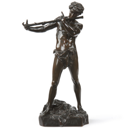 """Felix Charpentier (French, 1858-1924) Antique Bronze Sculpture """"L'Improvisateur"""""""