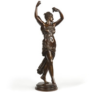 Eugene Delaplanche (French, 1836-1891) Antique Bronze Sculpture, F. Barbedienne