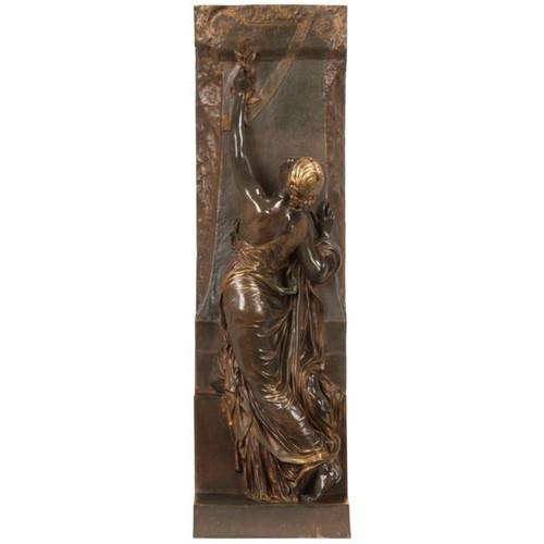 Henri Chapu (French, 1833-1891) Antique Bronze Sculpture Barbedienne La Jeunesse