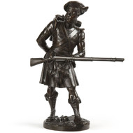 Albert Carrier-Belleuse (French, 1824-87) Bronze Sculpture Scottish Highlander