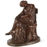 "Pierre Jules Cavelier (French, 1814-94) Antique Bronze Sculpture ""Penelope"", Barbedienne"