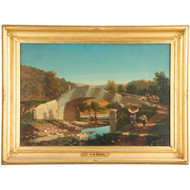 Henry W. Waugh (American, 19th Century) Antique Landscape Painting