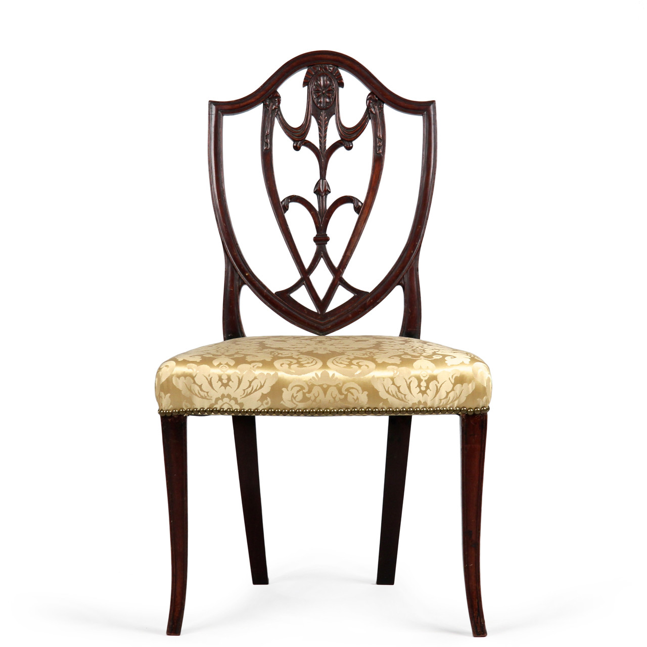 rare and fine american federal side chair new york c 1790 1800