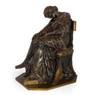 """Penelope Sleeping"", bronze sculpture 