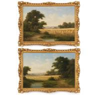 Walter Heath Williams (British, 1836-1906) Pair of Harvest Paintings