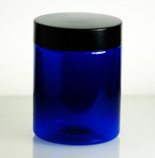 8oz Blue PET Jars