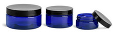 8 Oz Blue PET Jar With Caps