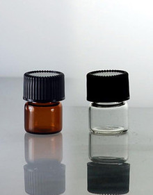 1/4 Dram Glass Vials With Caps