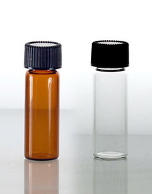 1 Dram Glass Vials With Teflon Lined Caps