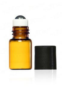 2 ml Amber Glass Vials metal Roll on bottle