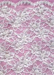 Alencon Lace  BA0046WB White