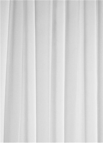 White Chiffon Sheer Dress Fabric