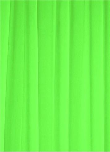 Neon Green Sheer Dress Fabric