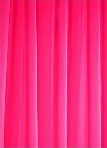 Neon Pink Chiffon Fabric Bridal Fabric By The Yard