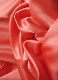 Fiesta Coral Duchess Satin Fabric